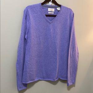 Weatherproof Cotton Cashmere Vneck pullover